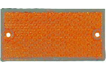 IND009575-catadioptre 2 trous 105x44mm orange-berthelot