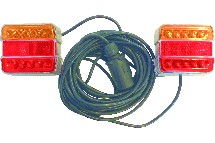 IND009404-kit signal.7m50 magnetique led entre feux 2.5m rouge/orange-berthelot