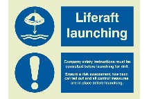 PR5111JK-picto liferaft launching + procedure   includes requirement for risk assessment-berthelot