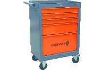 IND001183-servante 5 tiroirs orange/gris equinoxe-berthelot